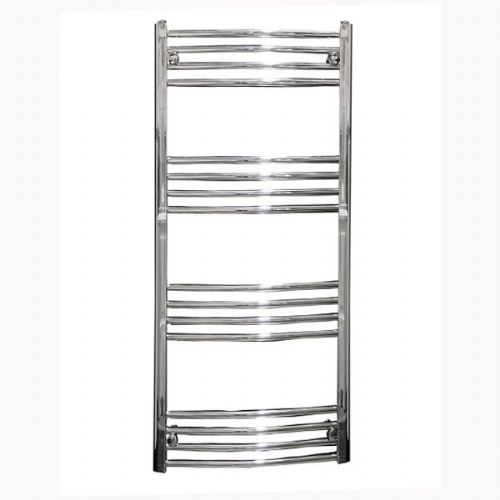 Reina Capo Curved Thermostatic Electric Towel Rail - 800mm x 500mm - Chrome